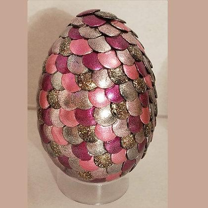 Pink Tan Glitter Multicolored 2.75 inch Dragon Egg