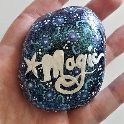 Handpainted Colorshift Magic Northeast Quote Stone