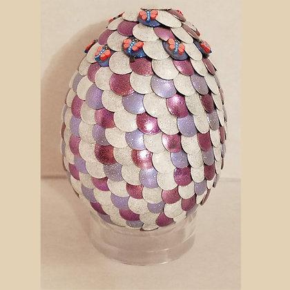Multicolored White 3 inch Dragon Egg
