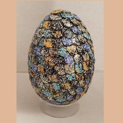 Yellow Black Glitter 2.75 inch Dragon Egg