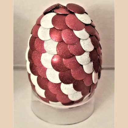 Multicolored Pink Red White 2 inch Dragon Egg