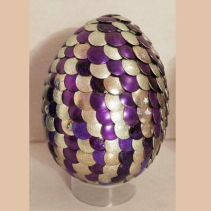 Silver Purple 3 inch Dragon Egg