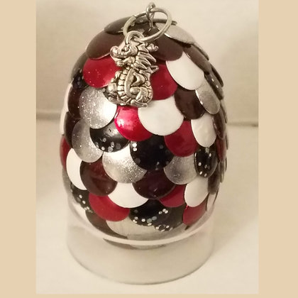 Multicolored 2 inch Dragon Egg with Charm