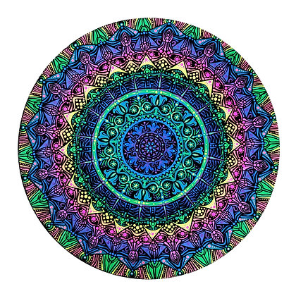 """Peaceful Energy"" Mandala Painting"