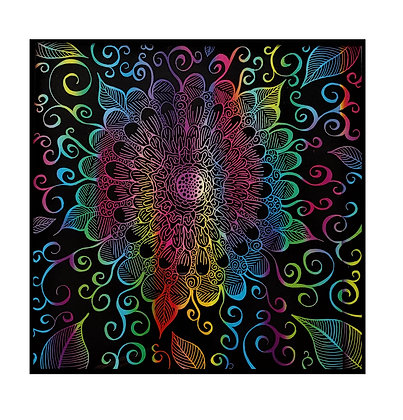 """""""Grow Free"""" Colorful Scratch Art"""