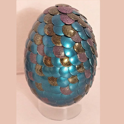 Blue Brown 2.75 inch Dragon Egg