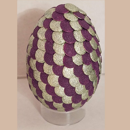 Purple Silver 2.75 inch Dragon Egg