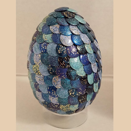 Multicolored Blue Glitter 2.75 inch Dragon Egg