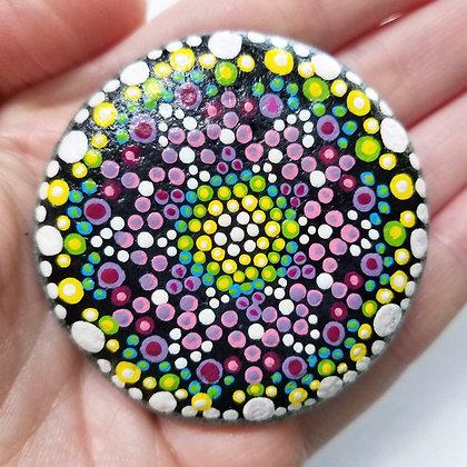Handpainted Purple Yellow Dotted Washington Stone