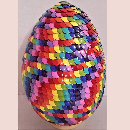 Rainbow 6 inch Dragon Egg