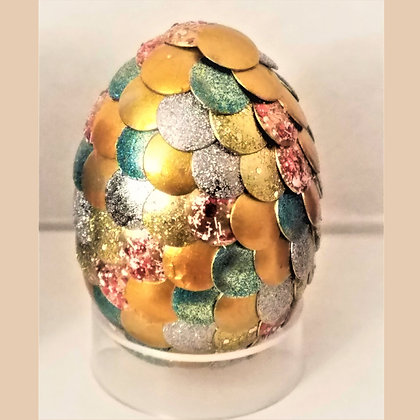 Multicolored Yellow Gold 2 inch Dragon Egg