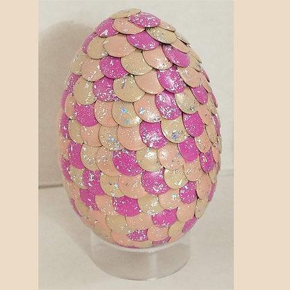 Peach Pink Glitter 2.75 inch Dragon Egg