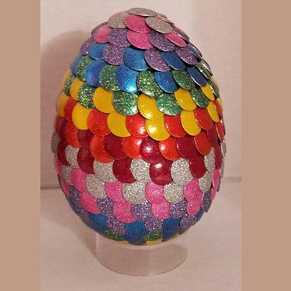 Multicolored Rainbow Glitter 3 inch Dragon Egg