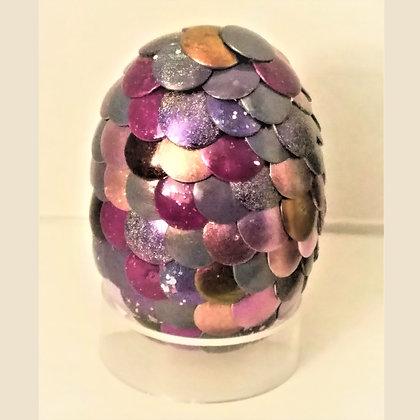 Multicolored Purple 2 inch Dragon Egg