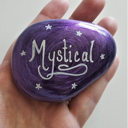 Handpainted Purple Mystical Quote Northeast  Stone