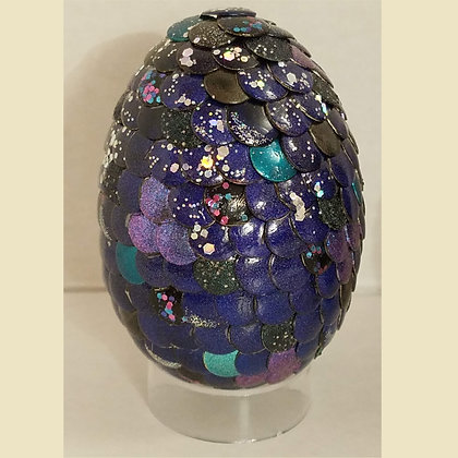 Blue Multicolored 2.75 inch Dragon Egg