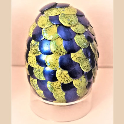 Yellow Blue Glitter 2 inch Dragon Egg