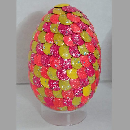 Pink Yellow Glitter 2.75 inch Dragon Egg