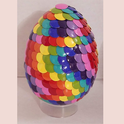 Multicolored Rainbow 3 inch Dragon Egg
