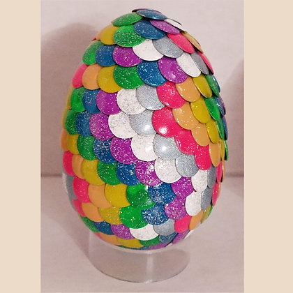Rainbow Glitter 2.75 inch Dragon Egg
