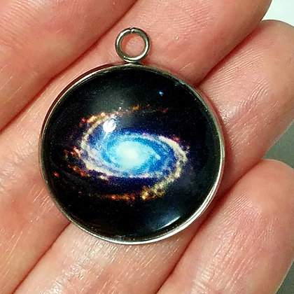 Galaxy Necklace Pendant with Chain