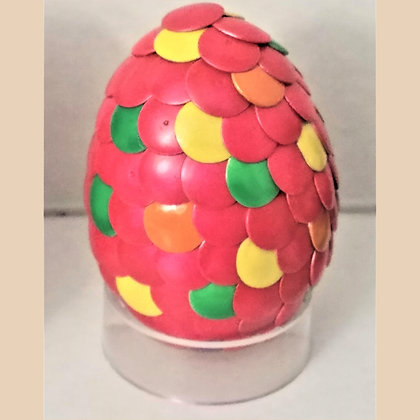 Multicolored Pink 2 inch Dragon Egg