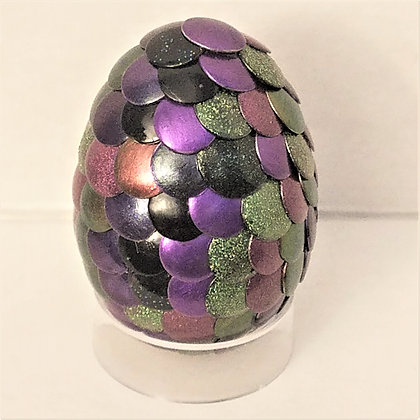 Purple Green Multicolored 2 inch Dragon Egg
