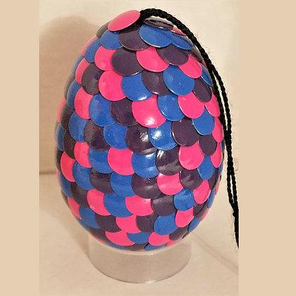 Multicolored Blue Pink 2.75 inch Dragon Egg