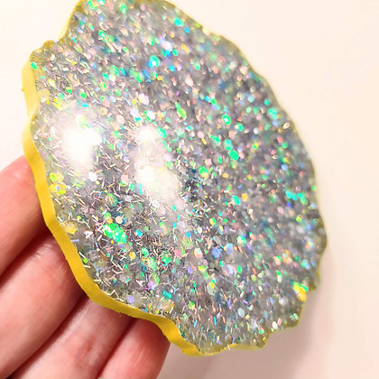 Silver Holographic Sparkling Suncatcher