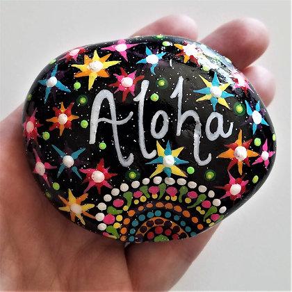 Handpainted Aloha Northeast Quote Stone