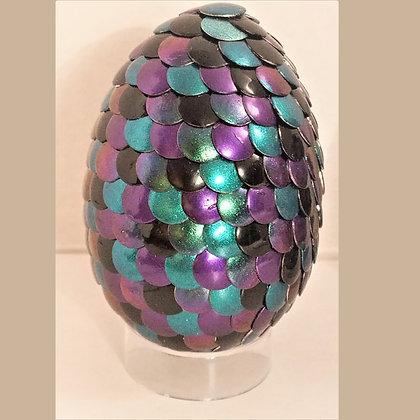 Multicolored Purple Teal Colorshift 2.75 inch Dragon Egg