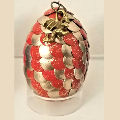 Orange Gold 2 inch Dragon Egg with Charm