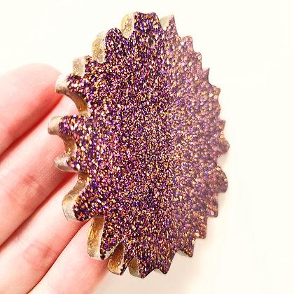 Purple Gold Mixed Sparkling Suncatcher