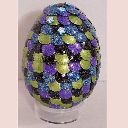 Multicolored Green Blue 3 inch Dragon Egg