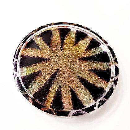 Sparkling Glitter Handpainted Resin Coaster