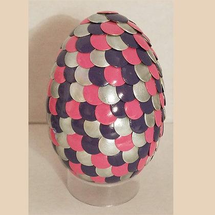 Pink Purple Silver 2.75 inch Dragon Egg
