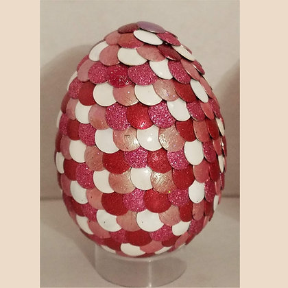 Red White 3 inch Dragon Egg