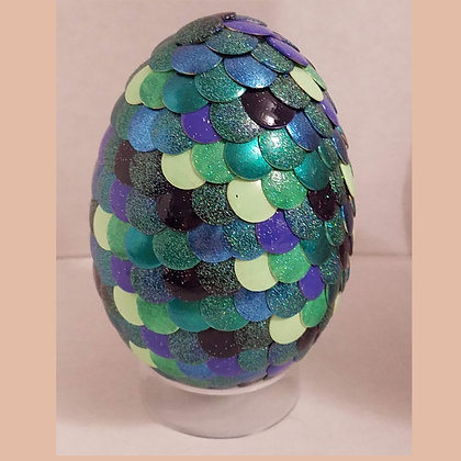 Multicolored Teal Green 2.75 inch Dragon Egg