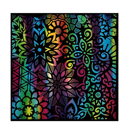 """""""Blossoming"""" Colorful Scratch Art"""