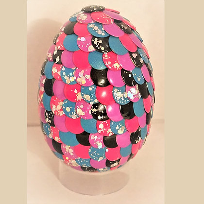 Multicolored Pink Glitter 2.75 inch Dragon Egg