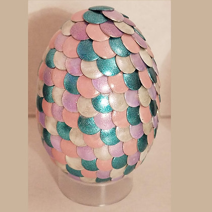 Pink Teal 2.75 inch Dragon Egg
