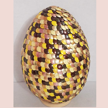 Natural Multicolored Brown Gold 6 inch Dragon Egg