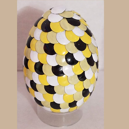 Yellow White Black 2.75 inch Dragon Egg