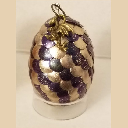 Champagne Purple 2 inch Dragon Egg with Charm