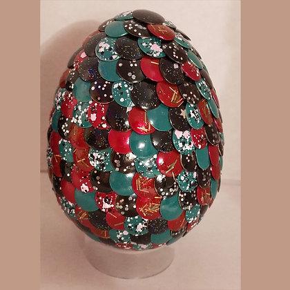 Multicolored Glitter 3 inch Dragon Egg
