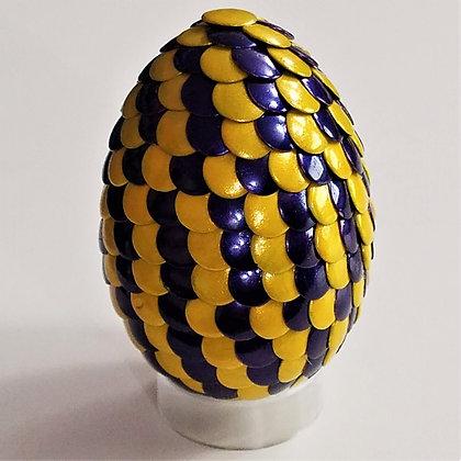 Yellow Blue 2.75 inch Dragon Egg