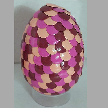 Peach Pink Red 2.75 inch Dragon Egg