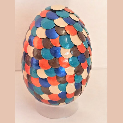 Multicolored Orange Blue 2.75 inch Dragon Egg