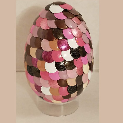 Pink Brown Multicolored 2.75 inch Dragon Egg