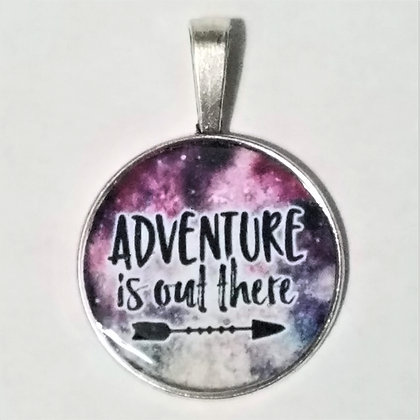 Adventure Is Out There Quote Necklace Pendant with Chain
